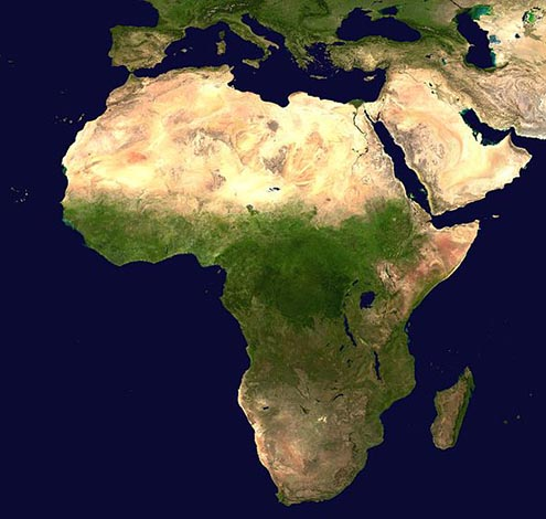 Africa map map of africa worldatlas africa satellite view map gumiabroncs Gallery