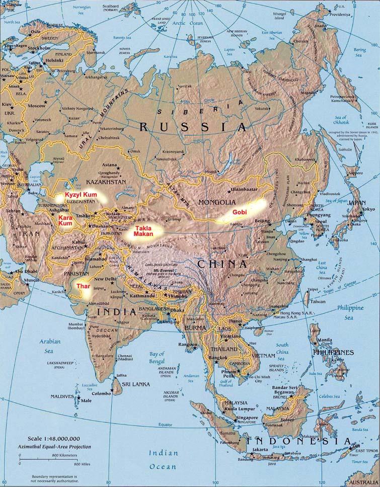 Deserts of Asia Landforms of Asia  Worldatlascom
