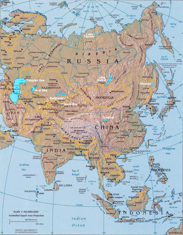 High Quality Lakes Of Asia U2013 Map U0026 Description