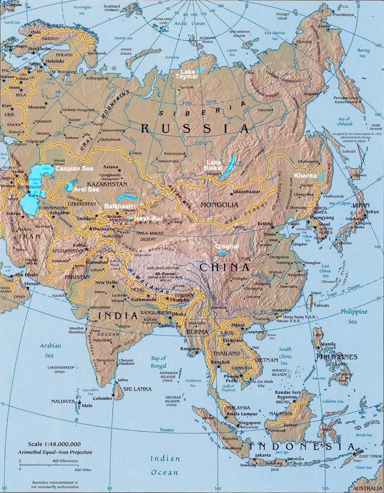 Lakes of Asia Landforms of Asia Worldatlascom