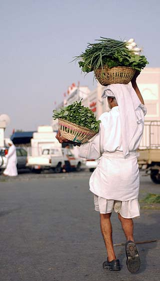 Bahrain vegetable man