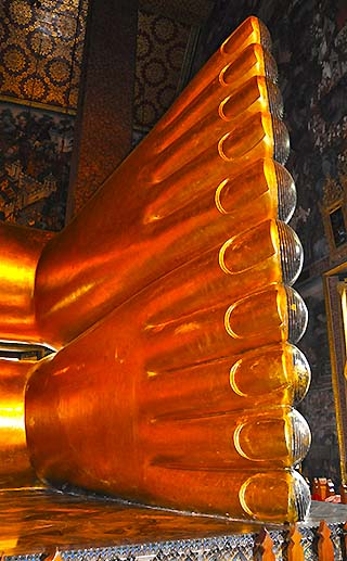 golden buddha feet bangkok