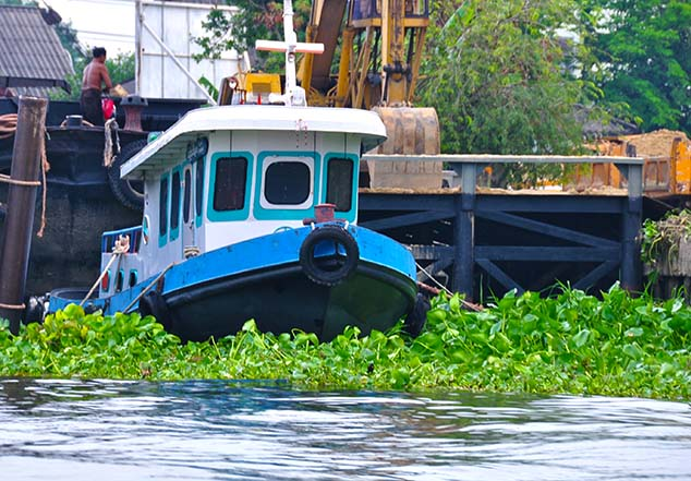 blue tug in bangkok