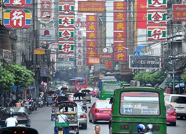 busy street bangkok