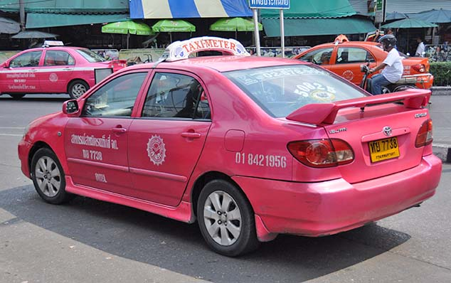 pink taxi bangkok