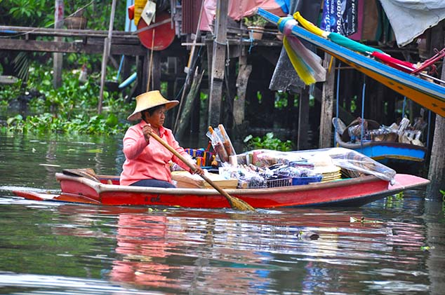 merchant on the chao phraya in bangkok