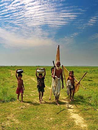 Bangladeshi fisherman