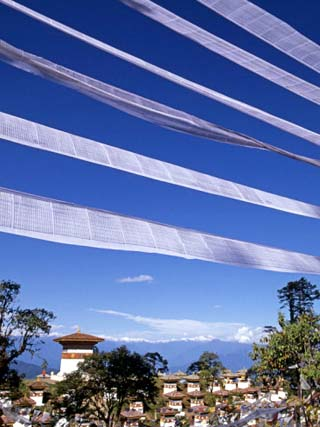 Dochu La, the Pass Is a Mystical Place with Views North to the Himalayas, Bhutan