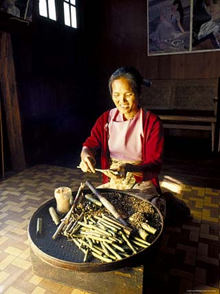 Local Intha Cheroot-Maker, Inle Lake, Myanmar (Burma)