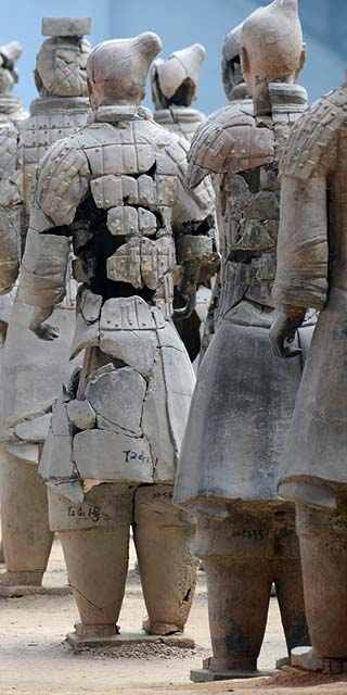 terracotta warriors back view
