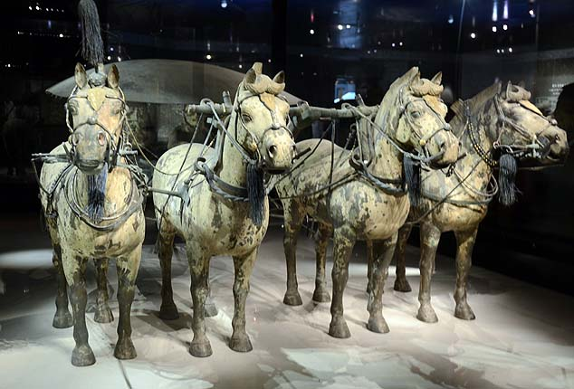 terracotta warrior horses
