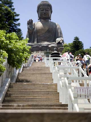 Steps Leading up to Tian Tan Buddha Statue, Hong Kong, China