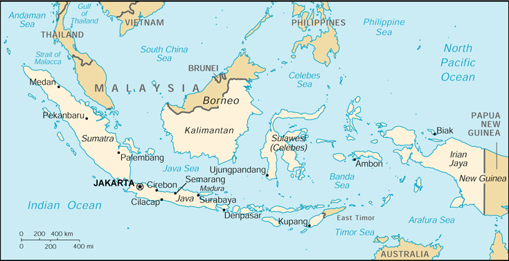 Indonesia CIA Map
