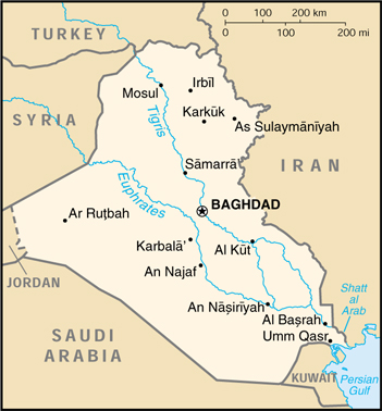 Iraq CIA Map