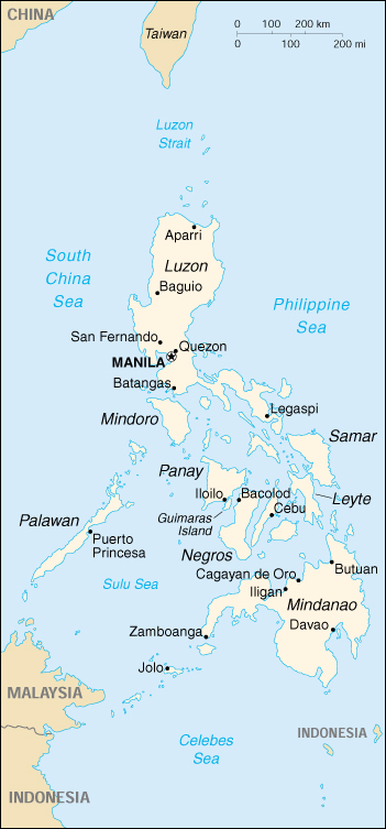 Philippines cia map print this map publicscrutiny Images