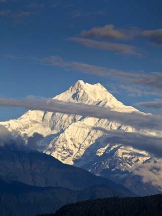 Kangchendzonga Range, View of Kanchenjunga, Tashi Viewpoint, Gangtok, Sikkim, India