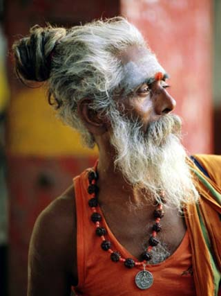 Portrait of a Sadhu, a Holy Man, Jaipur, Rajasthan State, India