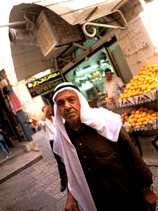 Muslim Man in the Street, Jerusalem, Israel