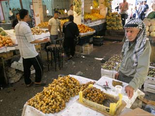 Man Selling Dates in Downtown Vegetable Market, Amman, Jordan, Middle East