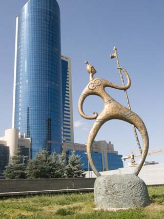 Modern Architecture Near Bayterek Tower, Astana, Kazakhstan, Central Asia, Asia