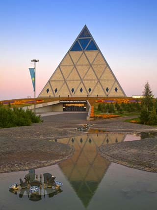 Palace of Peace and Reconciliation Pyramid Designed by Sir Norman Foster, Astana, Kazakhstan