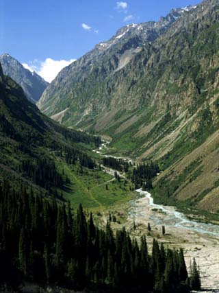 Ala-Archa Canyon in the Tien Shan Mountains in Kyrgyzstan, Central Asia