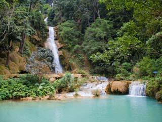 Kuang Si Waterfalls, Luang Prabang, Laos, Indochina, Southeast Asia, Asia