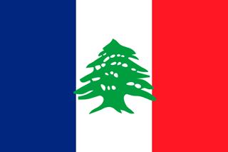 Lebanese French flag