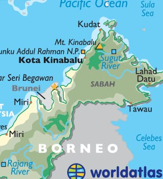 Map Of Just Asia.Kota Kinabalu Borneo Photos Malaysia Map And Information World