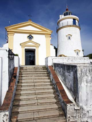 Guia Lighthouse and Chapel of Our Lady Guia, Macau, China, Asia