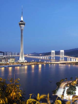 Macau Tower at Dusk, Macau, China, Asia