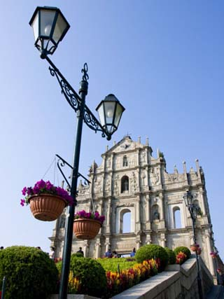 Facade of St. Paul's Cathedral, Macau, China