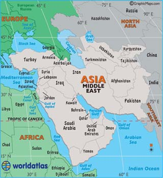 Middle East Timeline World Atlas