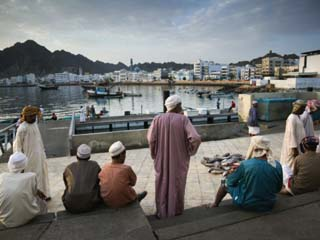Oman, Muscat, Mutrah, Morning at the Mutrah Fish Market