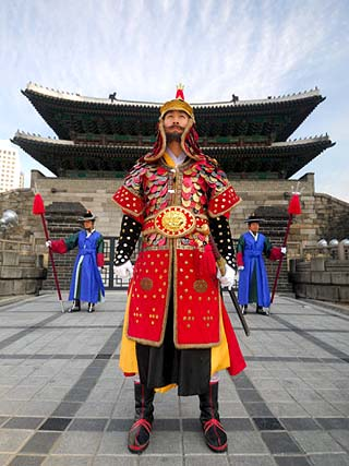 Guards of Gate at Namdaemun Gate, Seoul, South Korea