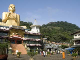 Golden Temple, With 30M High Statue of Buddha, Dambulla, Sri Lanka, Asia