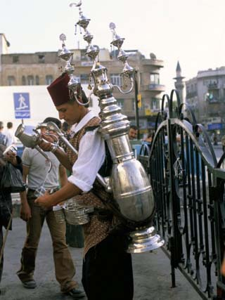 Tea Vendor at Souq Al-Hamidiyya, Old City's Main Covered Market, Damascus, Syria, Middle East