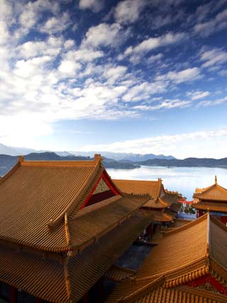 Rooftop of Wenwu Temple, Sun Moon Lake, Taiwan