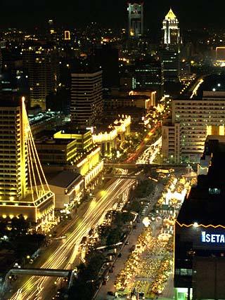 Ratcha Dami Road at Night, Bangkok, Thailand, Southeast Asia