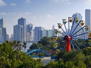 United Arab Emirates, Sharjah, Al Jazeera Park and Skyline Beside Khalid Lagoon
