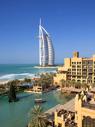 Mina a Salam and Burj Al Arab Hotels, Dubai, United Arab Emirates