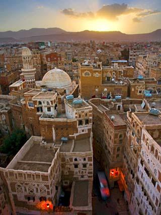 Skyline of Sanaa, Yemen