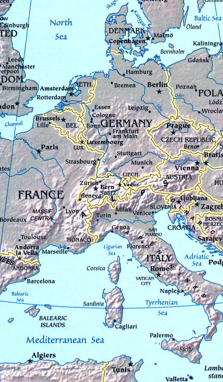 City Map Of Italy In English.Europe Map Map Of Europe Facts Geography History Of Europe