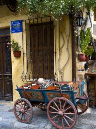 Old Wagon Cart, Chania, Crete, Greece