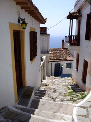 Hill Town of Glossa, Skopelos, Sporades Islands, Greek Islands, Greece, Europe