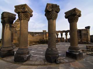 Zvarnots Cathedral, UNESCO World Heritage Site, Zvartnots, Armenia, Caucasus, Central Asia, Asia