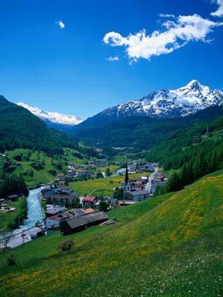 Otztal-Otz Valley and Town of Solden, Tyrol, Austria