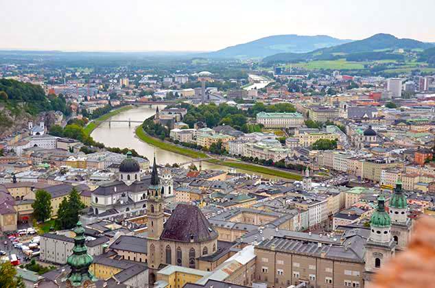 salzburg castle view