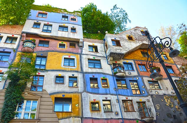 colorful houses vienna