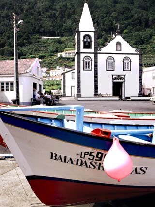 Santa Cruz Church, Ribeiras, Island of Pico, Azores, Portugal, Atlantic